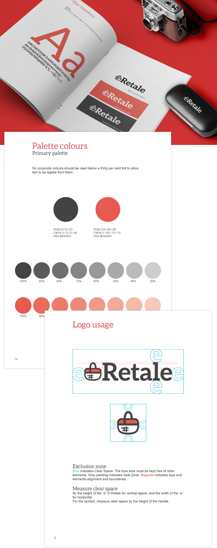 Brand guideline for Retale