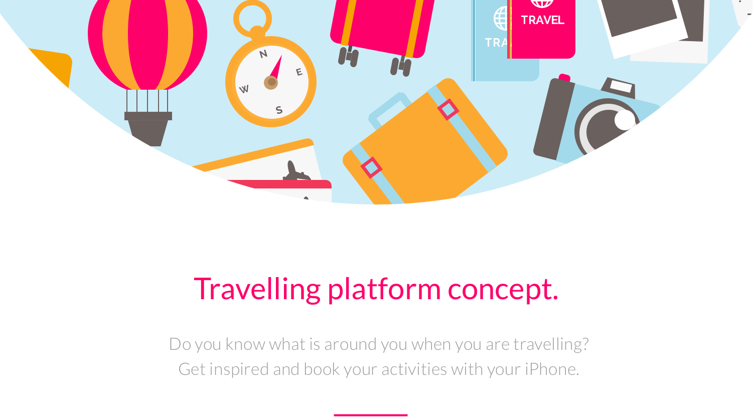 travelling app concept