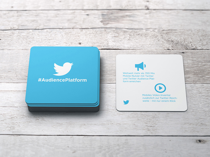 Offline design - coasters for Twitter